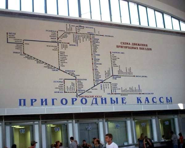 Финляндский вокзал. Схема